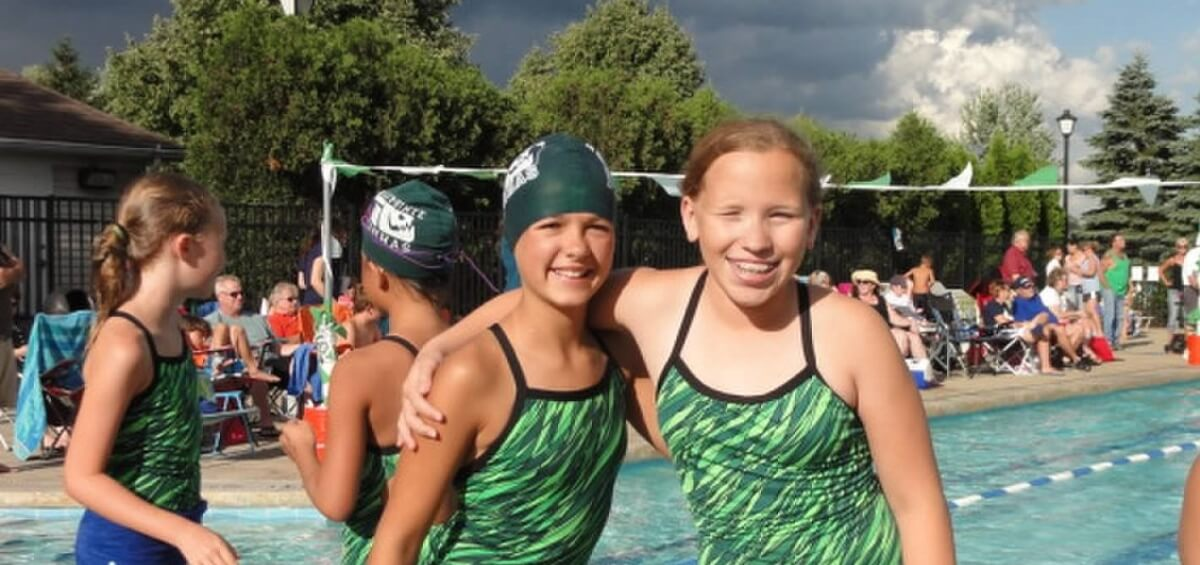 friends on the Olmsted Falls swim team